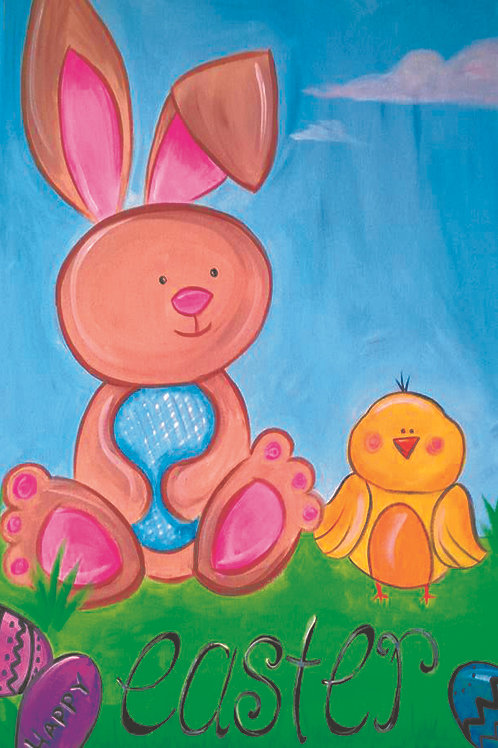 Bunny & Chick Canvas
