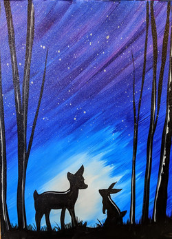 Deer & Bunny Night