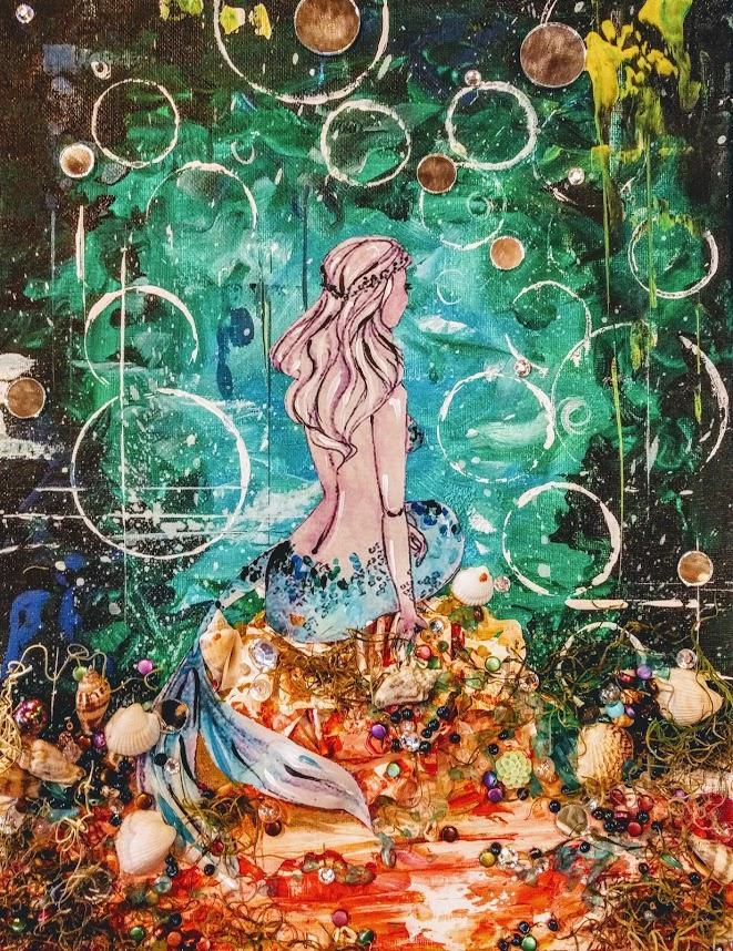 Mixed Media Mermaid