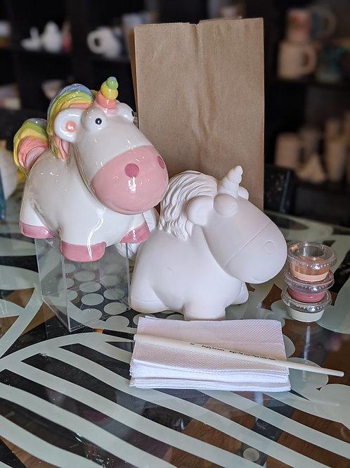 Fluffy Unicorn Large Bank Ceramic