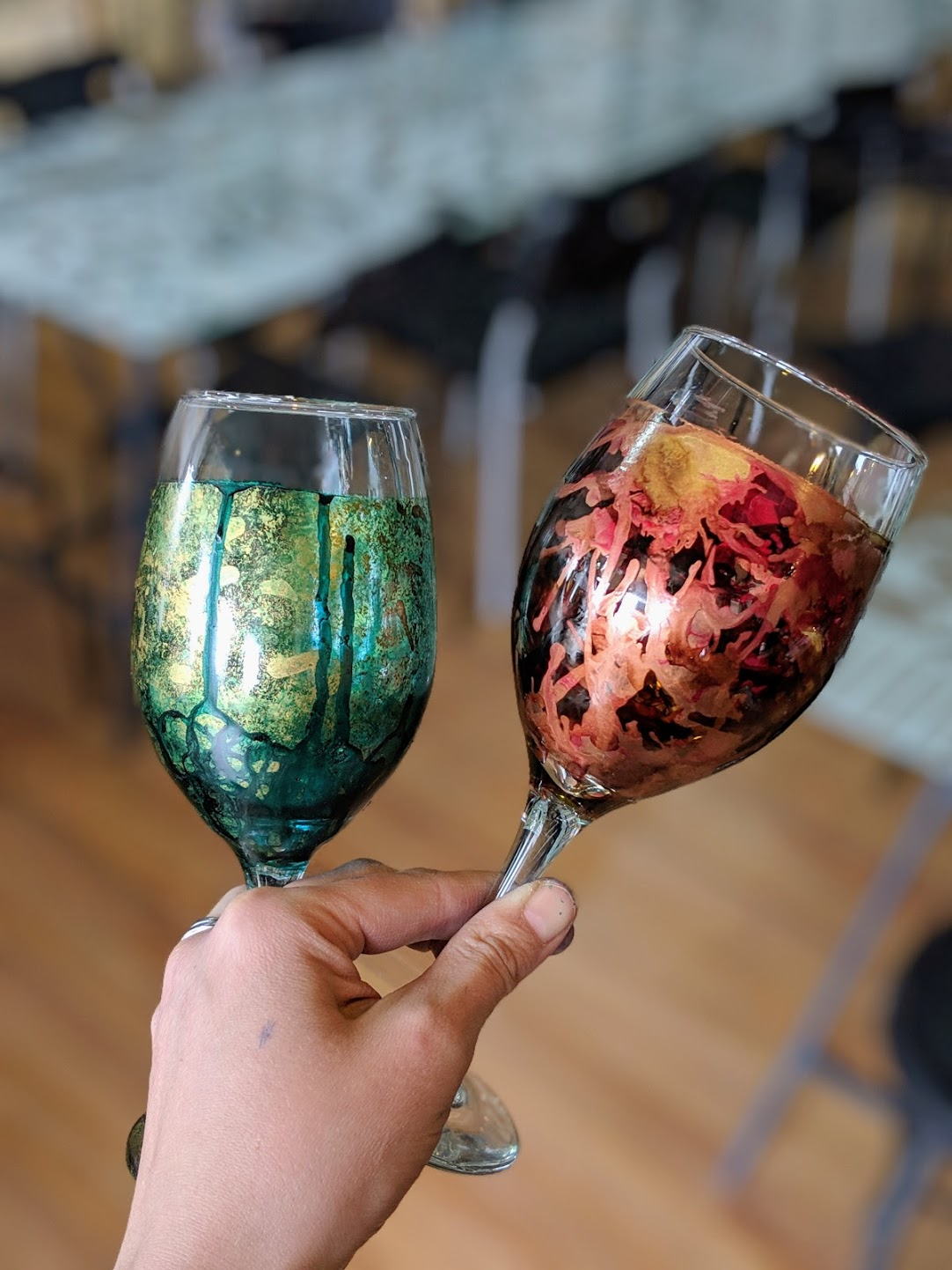Alcohol Ink Glasses