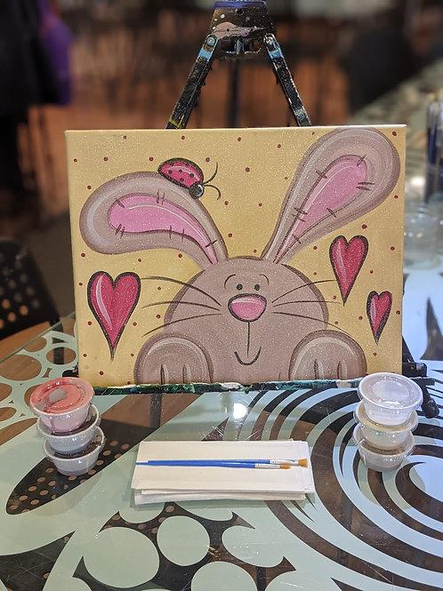 Canvas To-Go Kit: Love Bug & Bunny