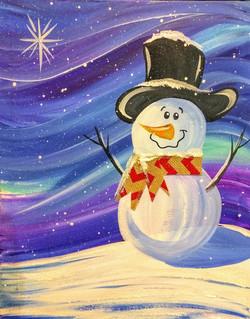 Northern Lights Snowman