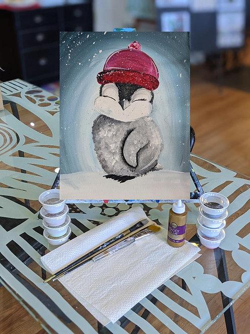 Canvas To-Go Kit: Fluffy Penguin