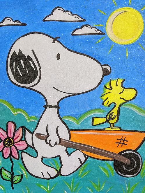 Spring Snoopy Canvas