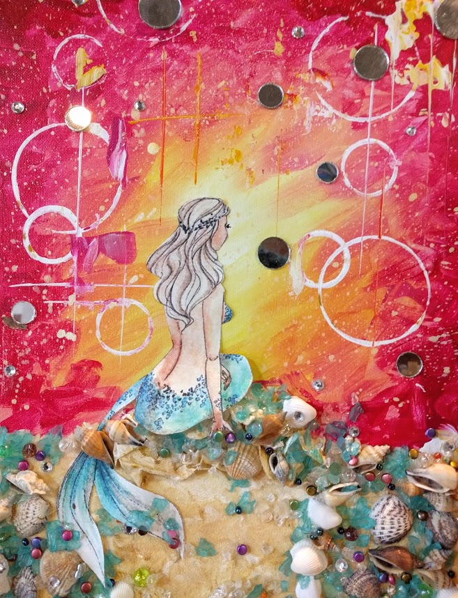 Mixed Media Mermaid 2