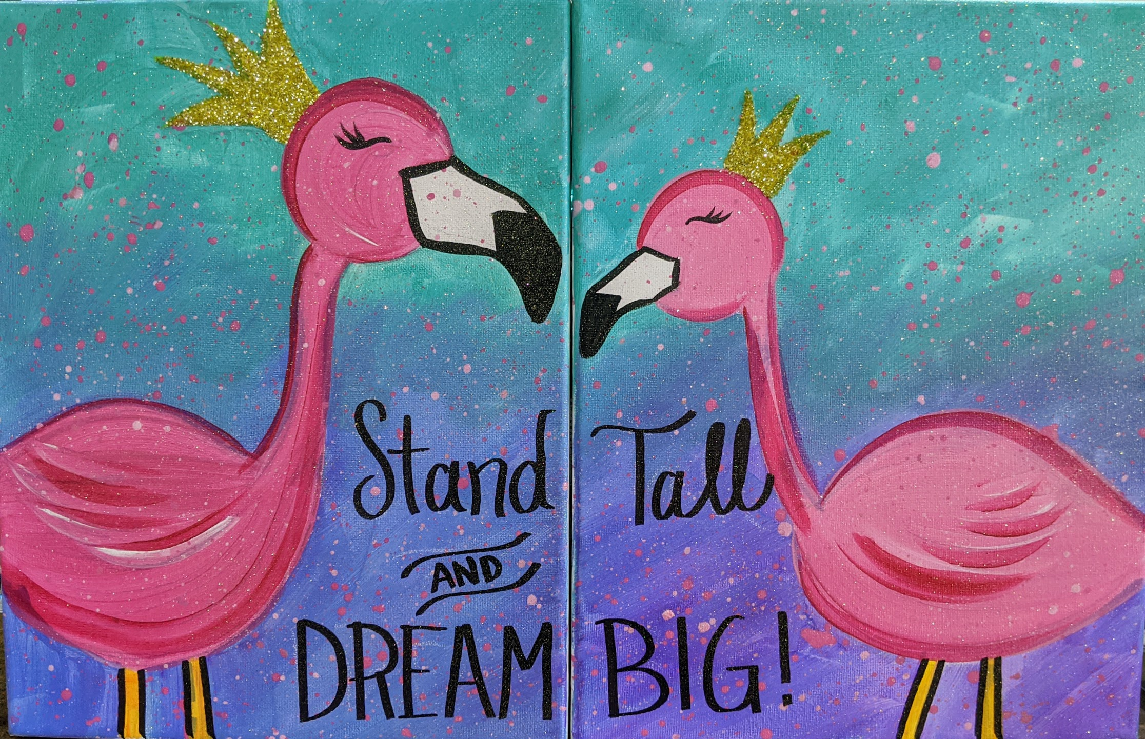 You & Me Flamingos