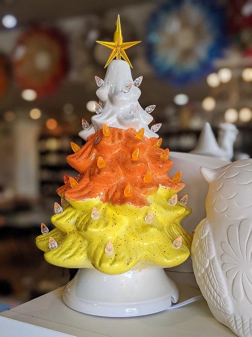 Candy Corn  Light-Up Tree