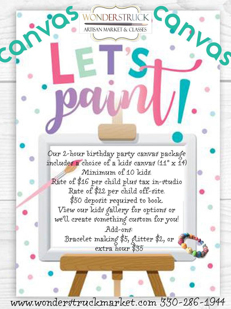 Kids Canvas Options