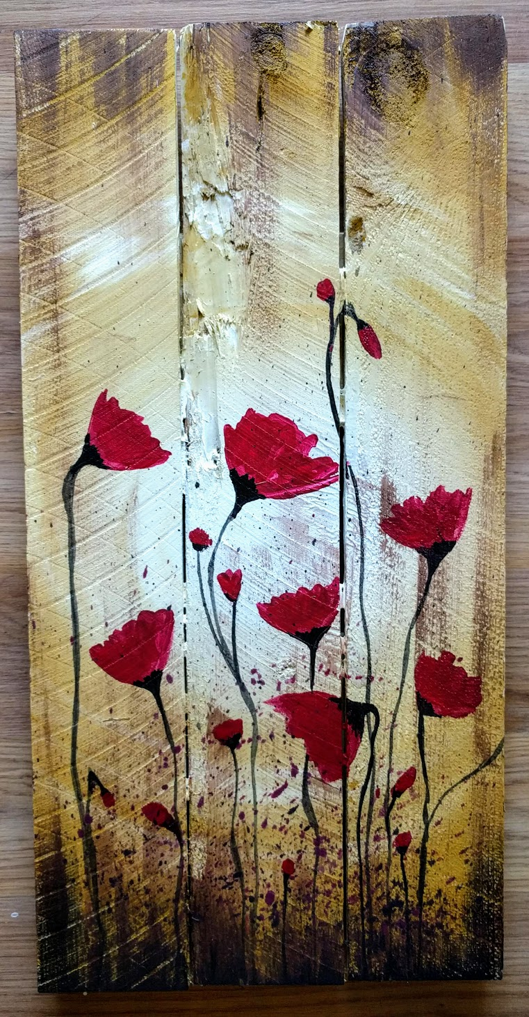 Dance of the Poppies on Pallet