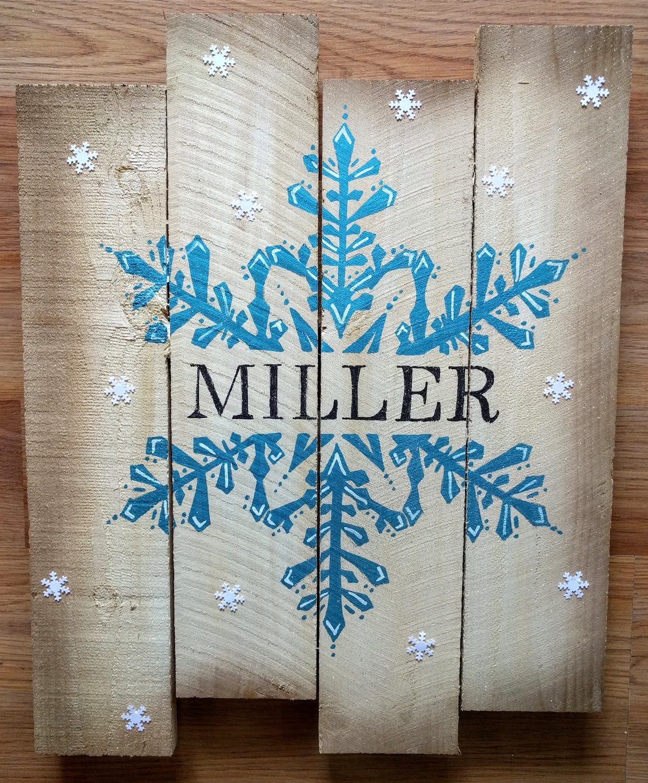 Snowflake Last Name Pallet