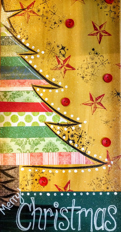 Mixed Media Christmas Tree