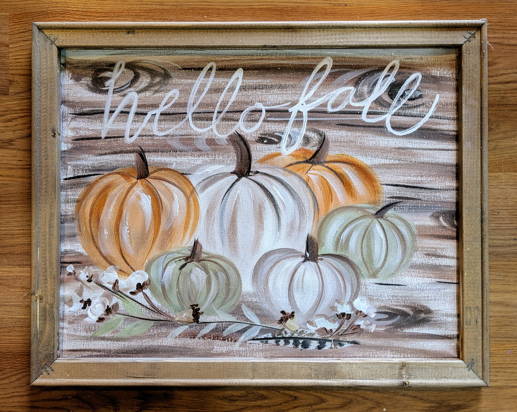 Hello Fall Reverse Canvas