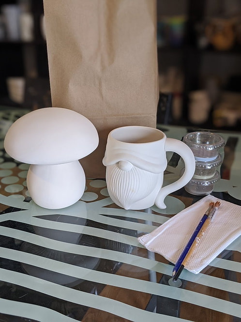 Mushroom & Gnome Mug Combo