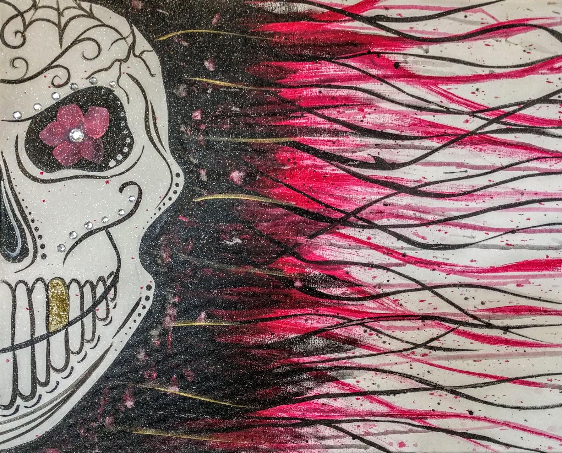 Rad Red Sugar Skull