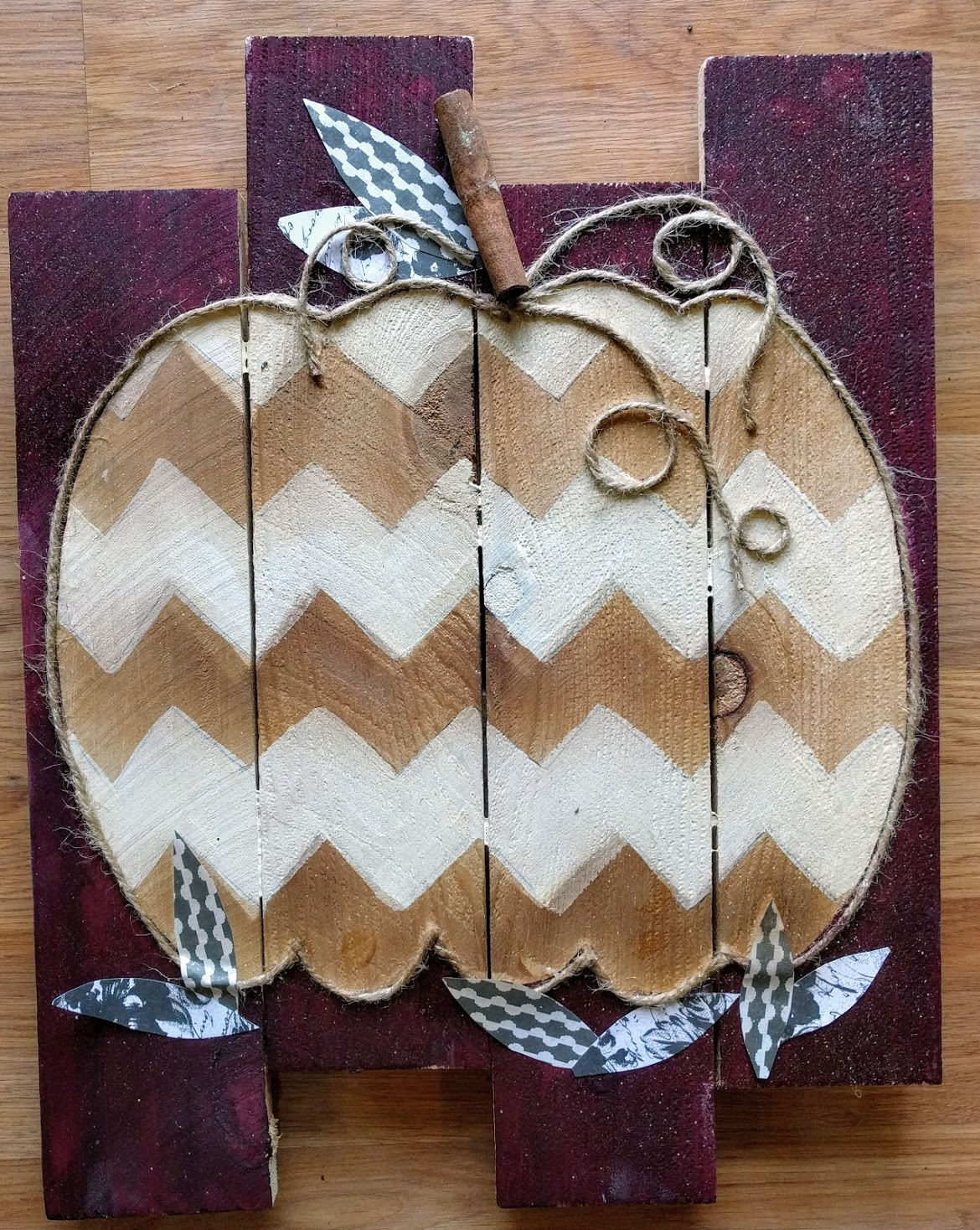 Wine Chevron Pumpkin