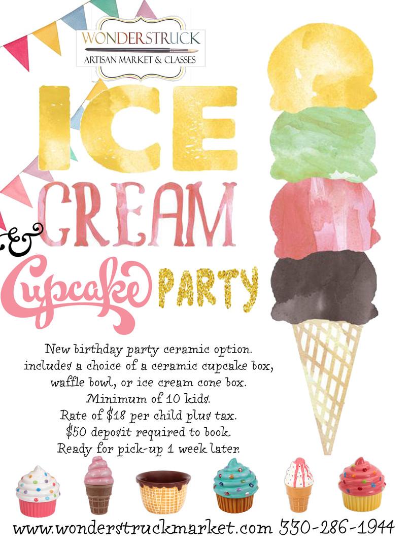 Ice cream & cupcake parties