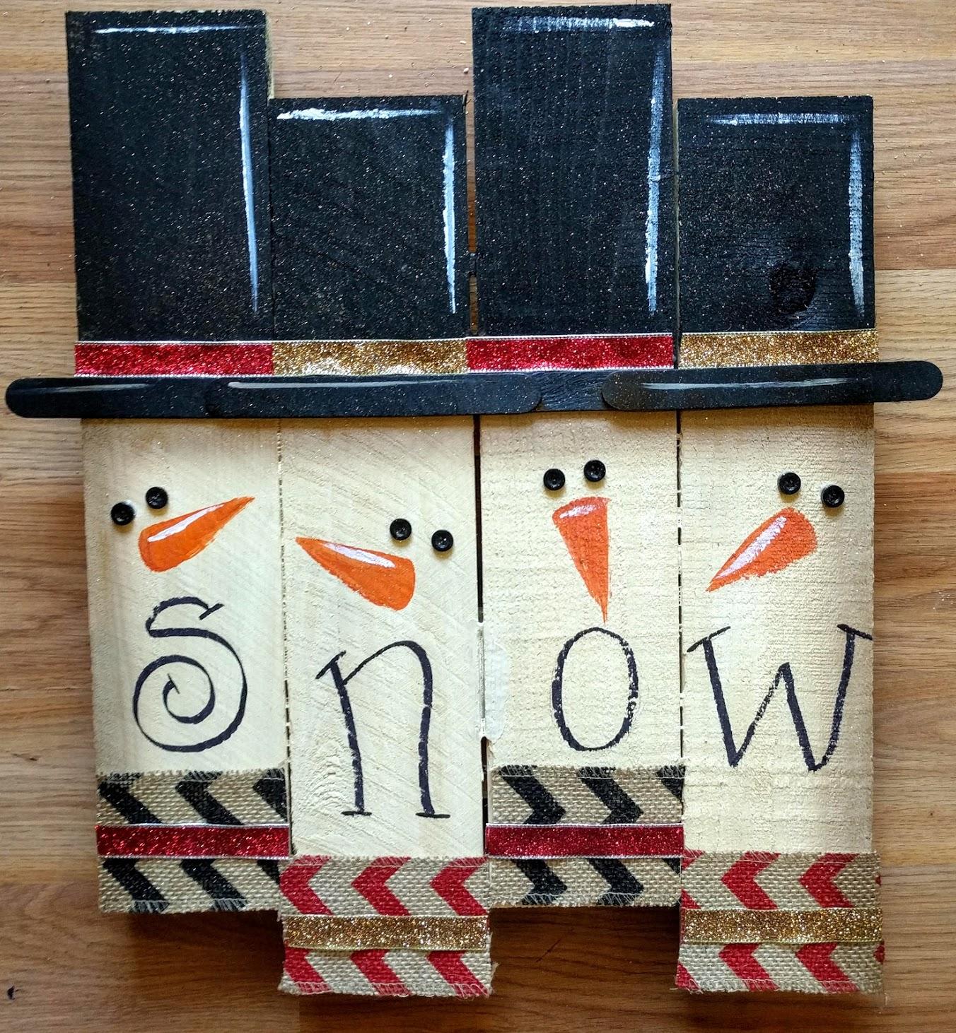 4 Snowmen Pallet