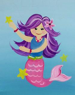Purple Hair Mermaid