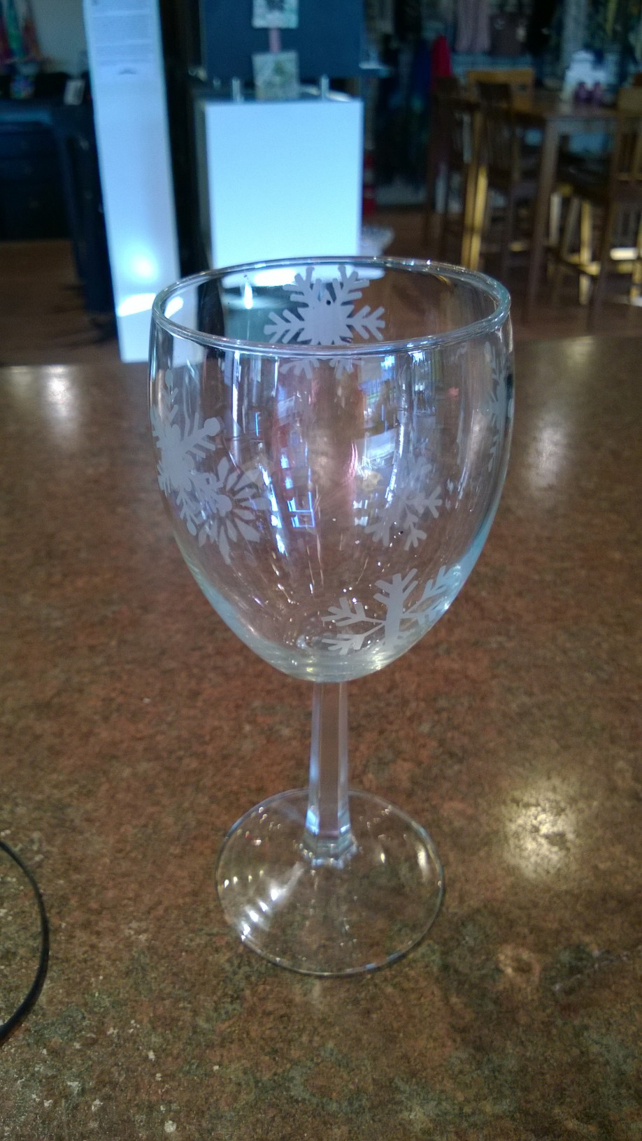 Etched Wine Glass 2/$20