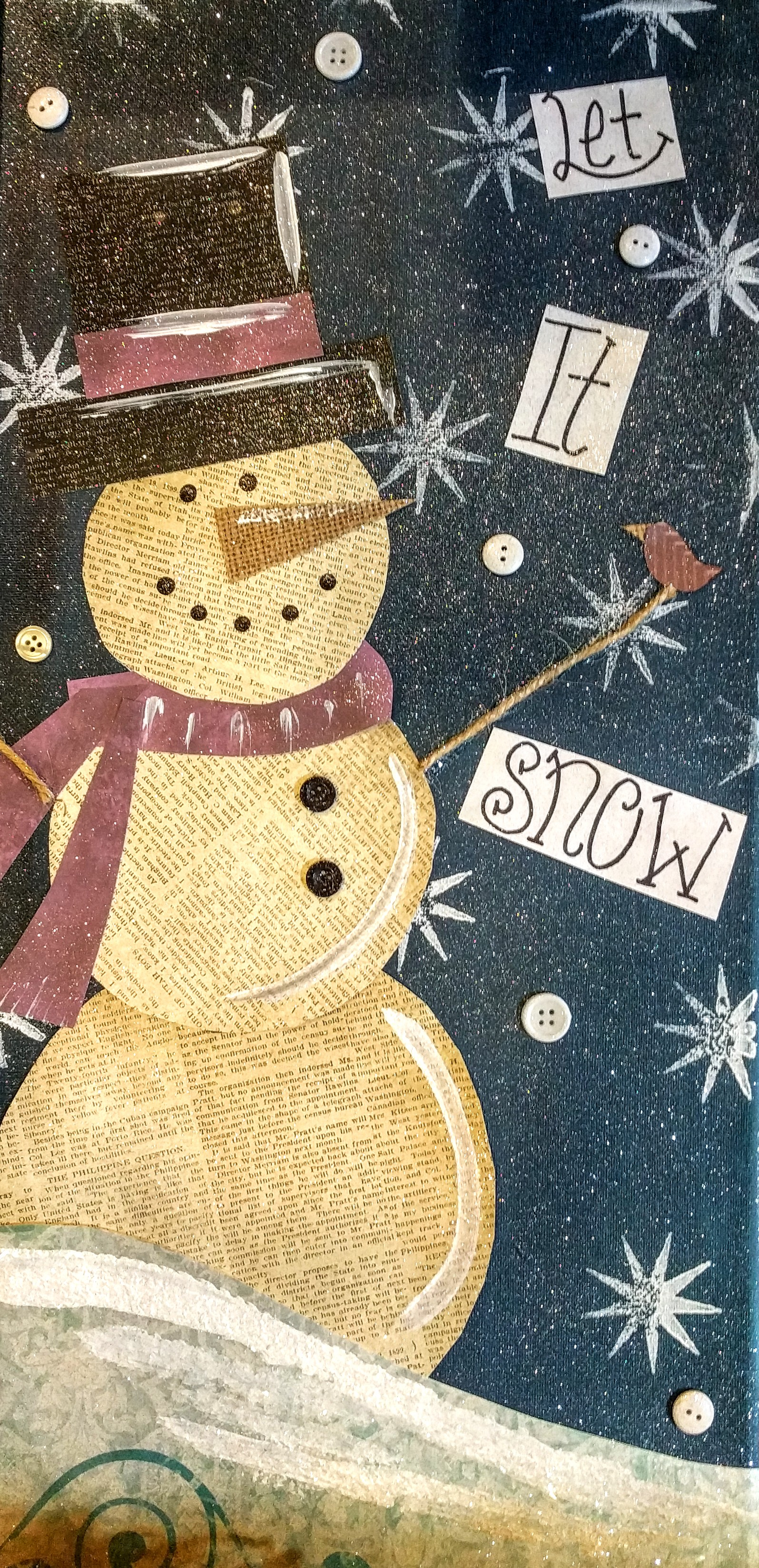 Mixed Media Snowman