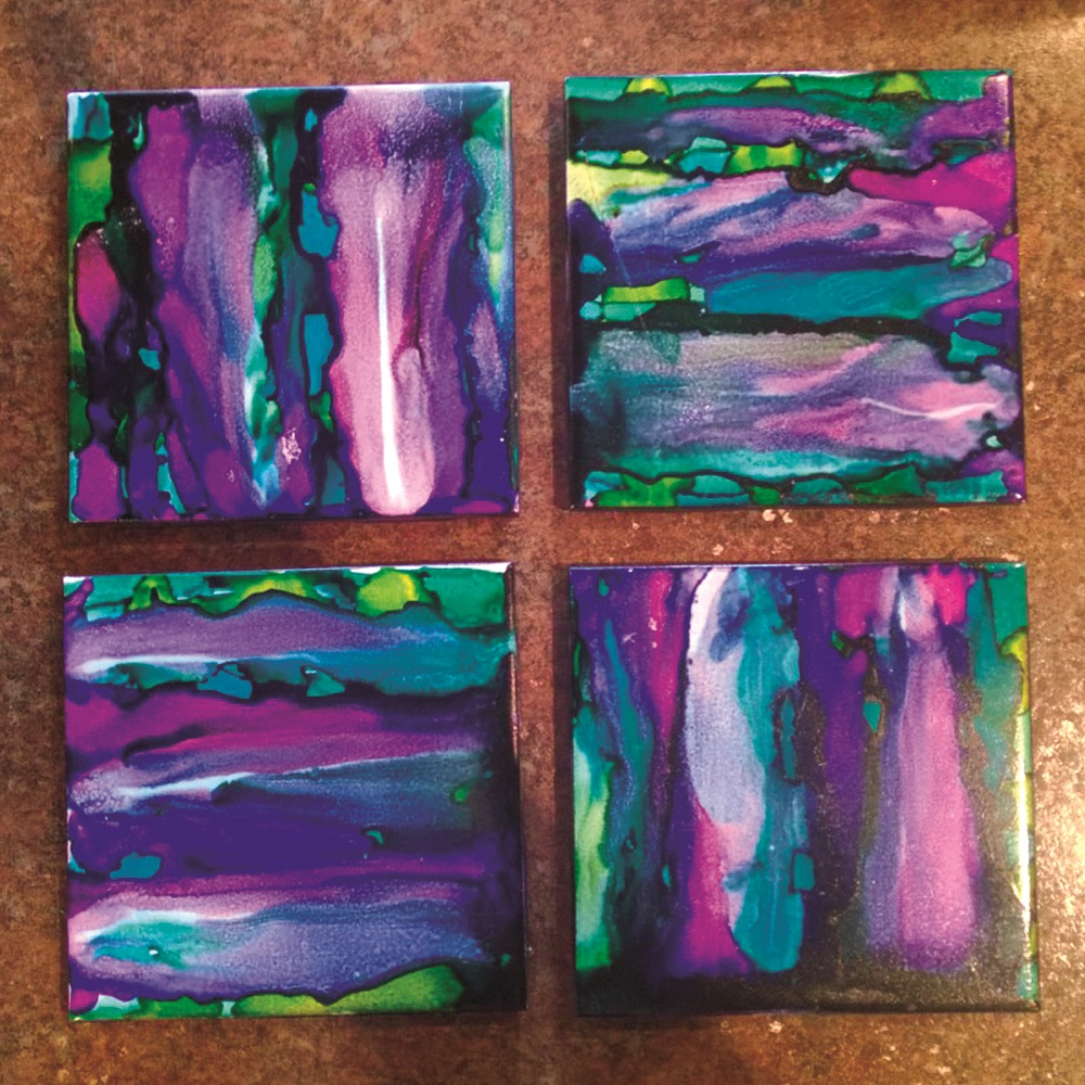 Abstract Alc Coasters