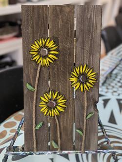 Bottlecap Sunflowers