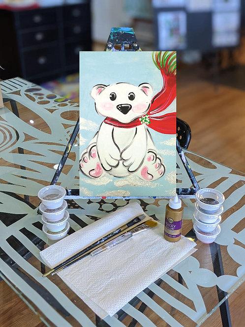 Canvas To-Go Kit: Polar Bear