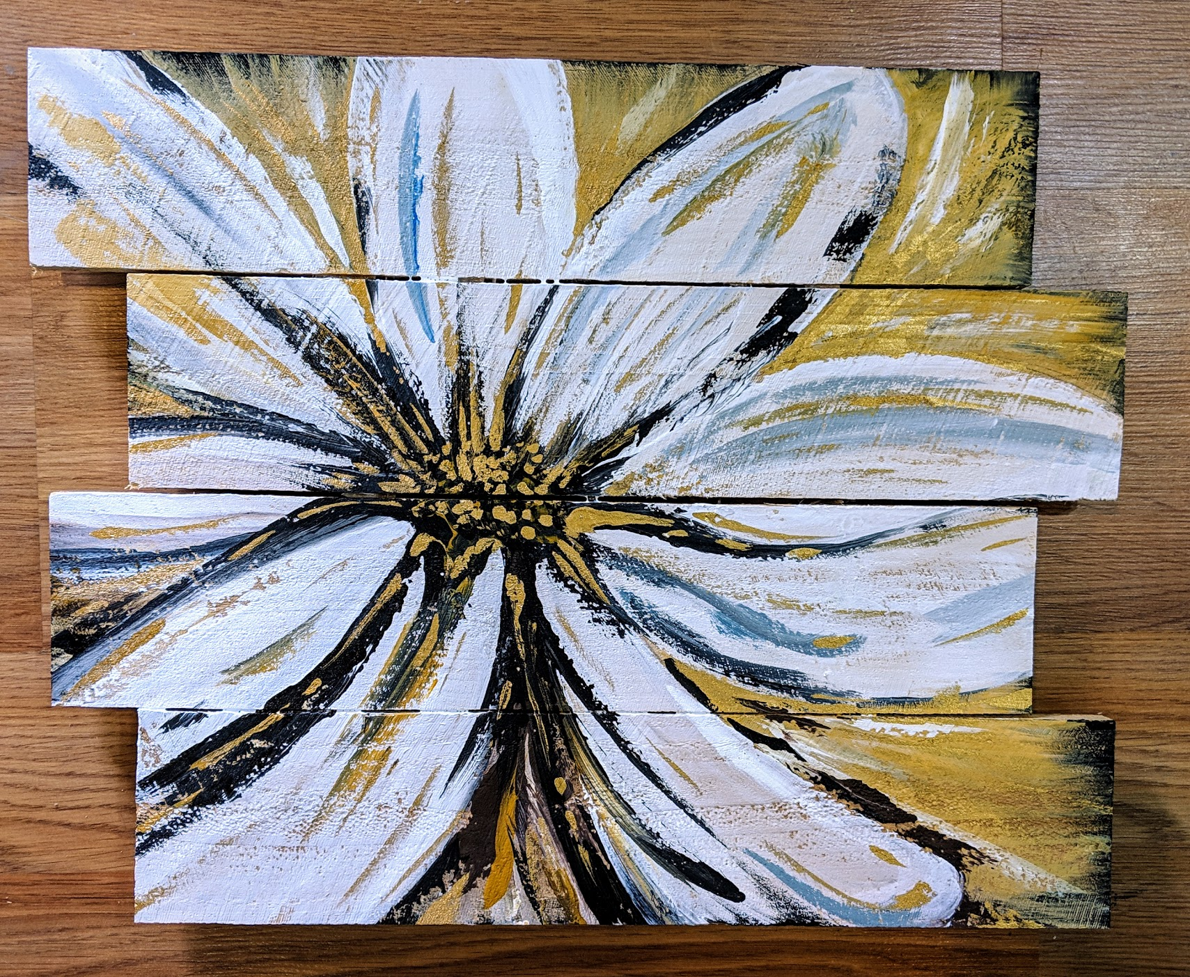 Golden Bloom on Pallet