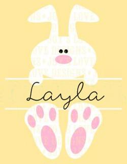 Custom Name Bunny