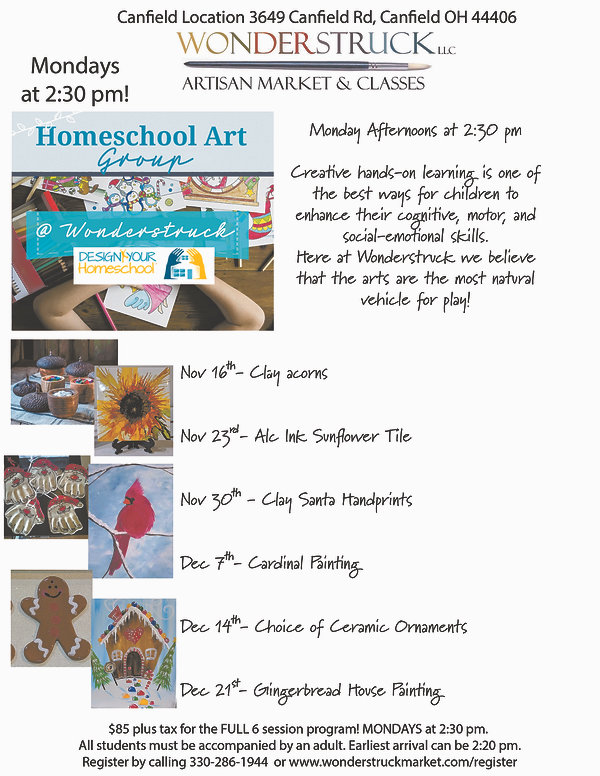 Homeschool Arts Nov Dec MONDAYS.jpg