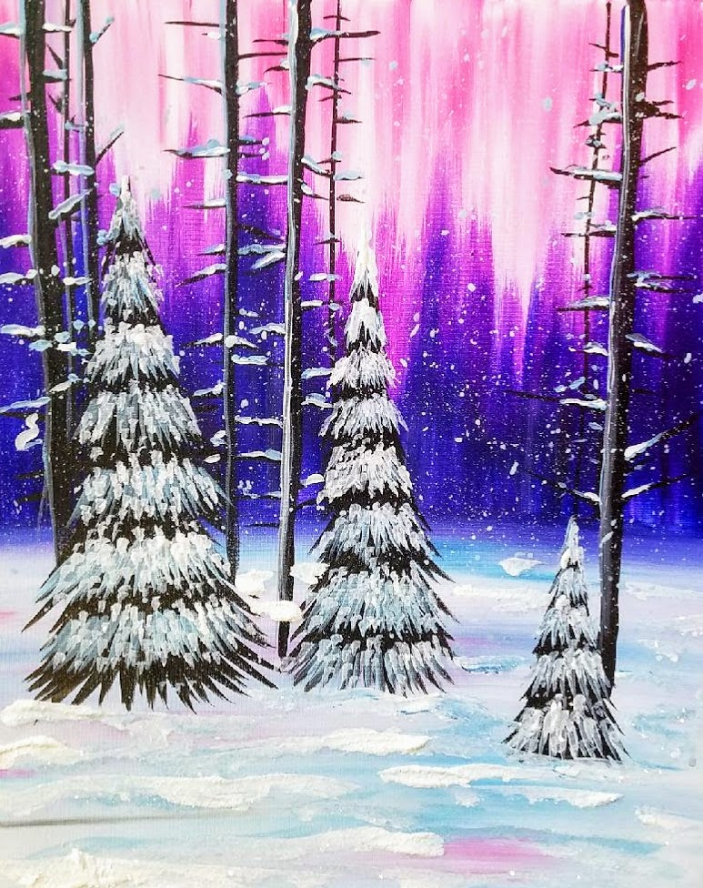 Winter Fusia Skies