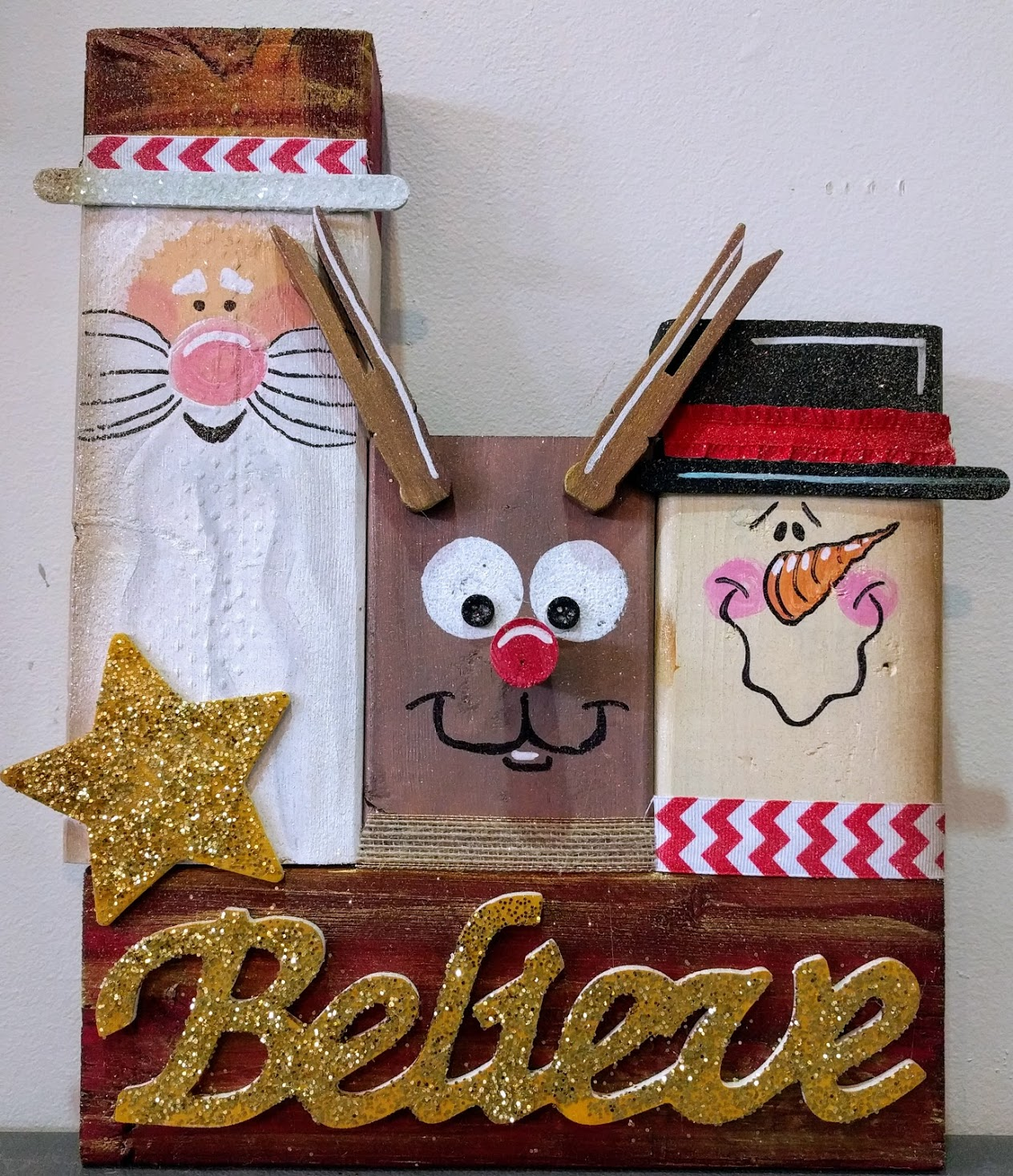 Christmas Trio Wooden Blocks