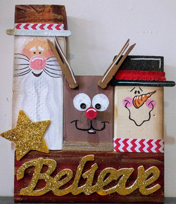 Christmas Trio Wooden Blocks
