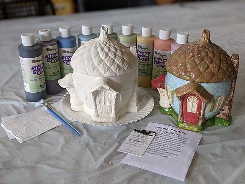 Acorn Jar Ceramic