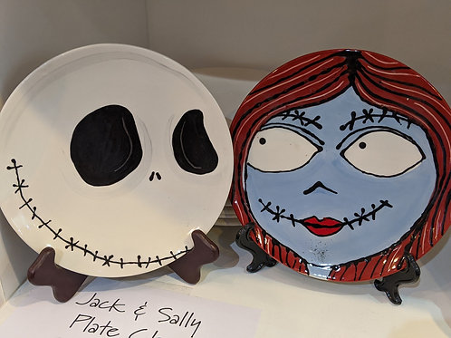 Jack & Sally Pre-drawn Plates