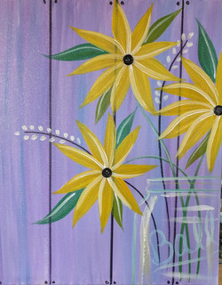 Dandelions on Lilac