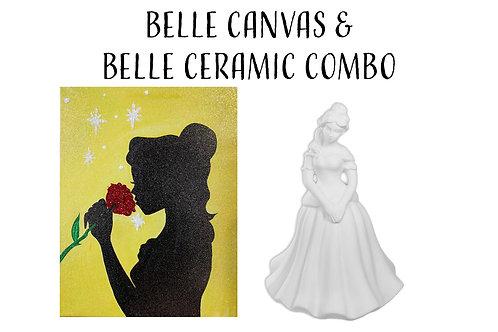 Pre-sketched Belle & Princess Ceramic