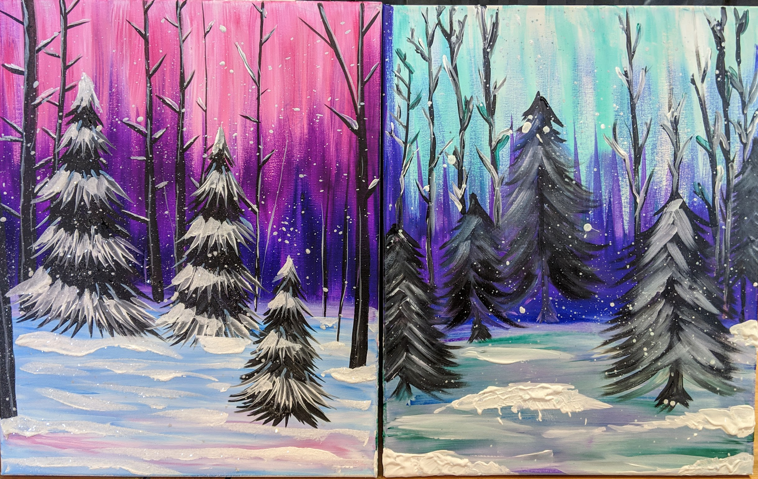 Couple's Winter Trees