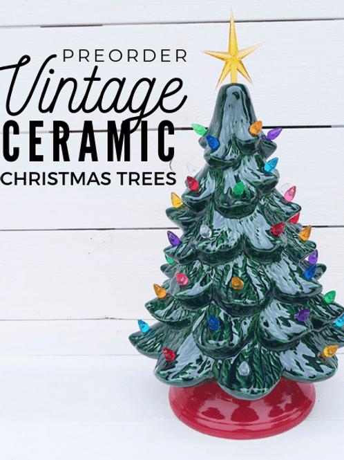 Vintage Christmas Tree w/ Light Kit