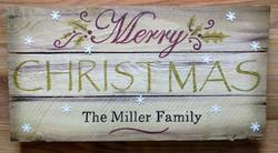 Merry Christmas Family Name Pallet