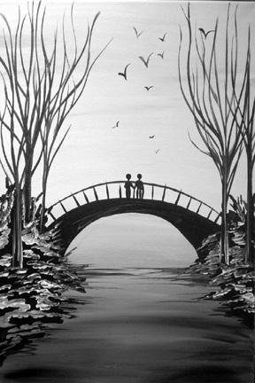 Winter Walk in Black & White
