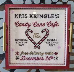 Candy Cane Cafe Tray