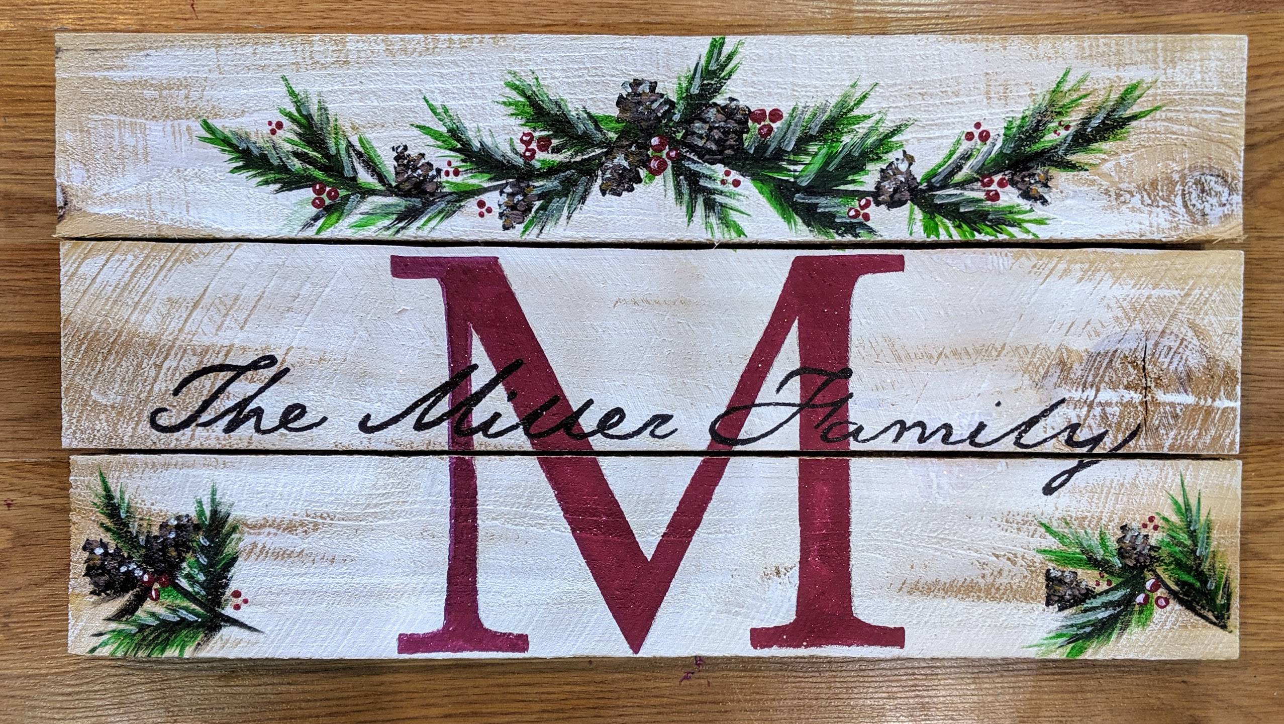 Pinecone Family Name Pallet