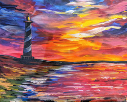 Fire Skies Lighthouse