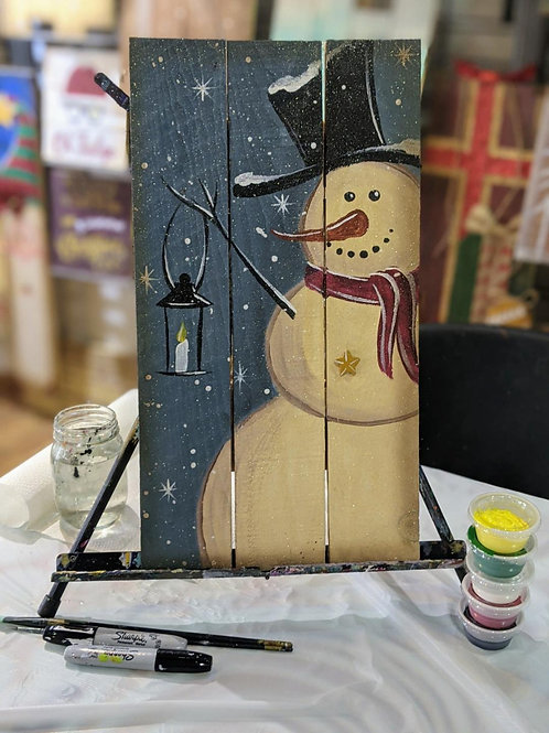 Wooden Project To-Go Kit: Snowman w/ Lantern