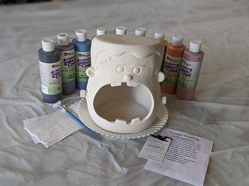 Ceramic Candy Frankenstein Holder