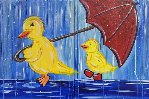 You & Me Duckies Canvas Set