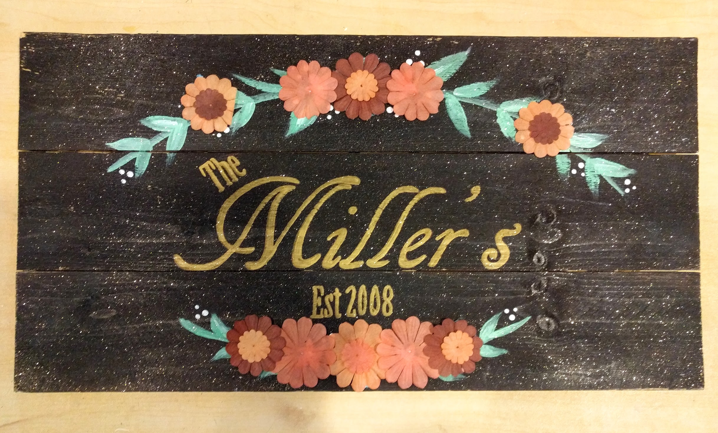 Fall Flower Name Sign