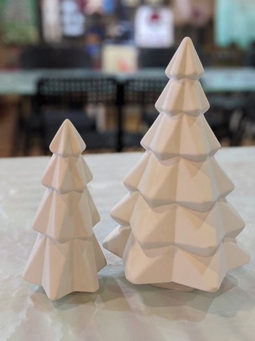 Set of 2 Geo Trees